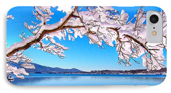 Snow Branch Smith Mountain Lake IPhone Case by The American Shutterbug Society