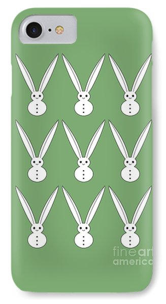Snow Bunnies IPhone Case by Kourai