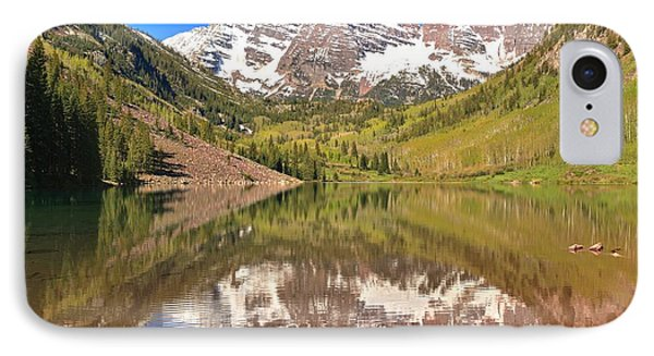 Snow Capped Reflections IPhone Case by Adam Jewell