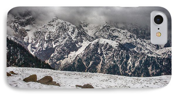 IPhone Case featuring the photograph Snow Capped Triund Hill by Yew Kwang