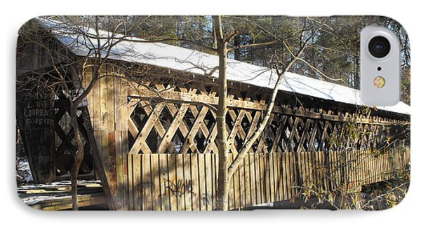 Snow Covered Bridge IPhone Case by Adam Cornelison