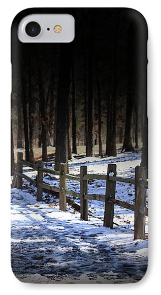 Snow Covered Bridge IPhone Case by Kim Henderson