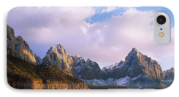 Snow Covered Mountain Range, The IPhone Case by Panoramic Images