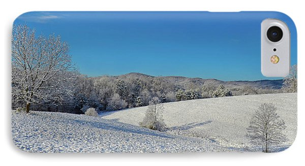 Snow Covered Pasture IPhone Case by Susan Leggett