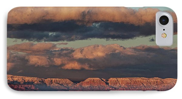 IPhone Case featuring the photograph Snow Covered Red Rock Panorama by Ron Chilston