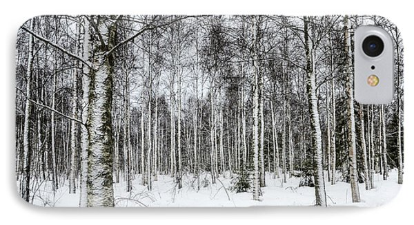 Snow Covered Trees IPhone Case by Amir Paz