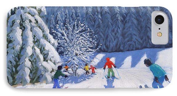 Snow Covered Trees IPhone Case by Andrew Macara