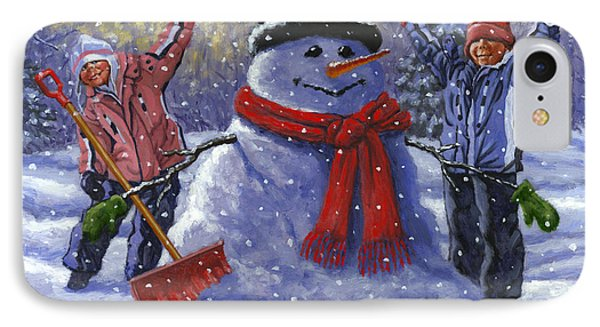 Snow Day Phone Case by Richard De Wolfe