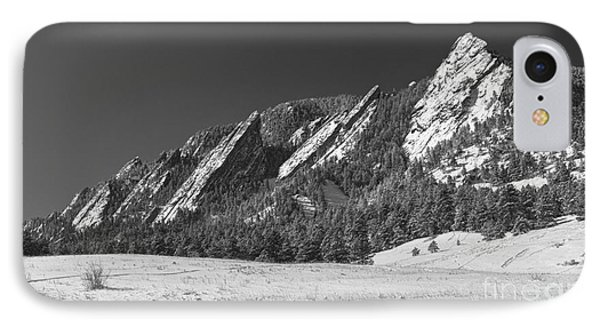 Snow Dusted Flatirons Boulder Co Panorama Bw Phone Case by James BO  Insogna