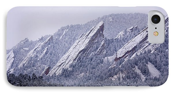 Snow Dusted Flatirons Boulder Colorado IPhone 7 Case