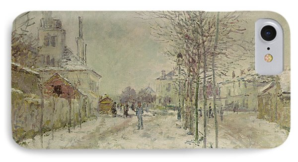 Snow Effect IPhone Case by Claude Monet