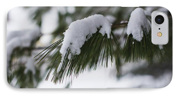 IPhone Case featuring the photograph Snow Falling On The White Pines by Andrew Pacheco