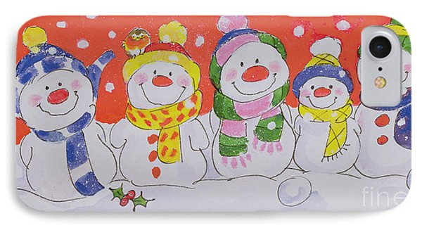 Snow Family IPhone Case by Diane Matthes