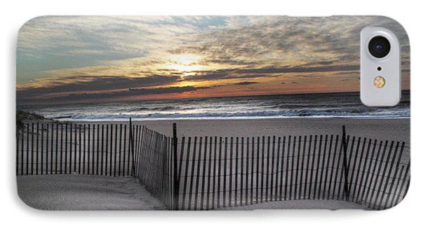 Snow Fence At Coopers Beach IPhone Case