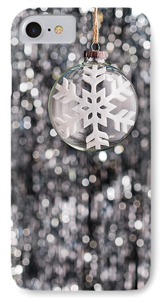 IPhone Case featuring the photograph Snow Flake by Ulrich Schade
