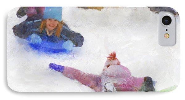 IPhone Case featuring the digital art Snow Fun by Francesa Miller