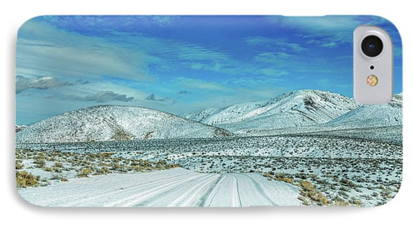 Snow In Death Valley IPhone Case by Peter Tellone