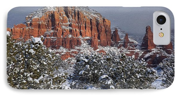 Snow In Sedona  2 IPhone Case