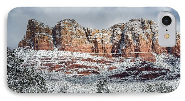 Snow In Sedona IPhone Case by Brian Oakley Photography