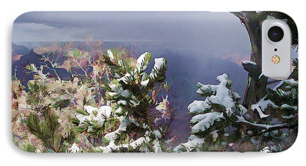 IPhone Case featuring the photograph Snow In The Canyon by Roberta Byram