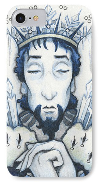 Snow King Slumbers Phone Case by Amy S Turner
