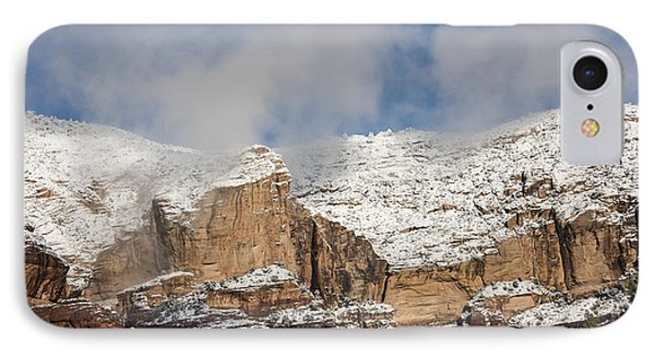 Snow Kissed Morning In Sedona, Az IPhone Case by Sandra Bronstein