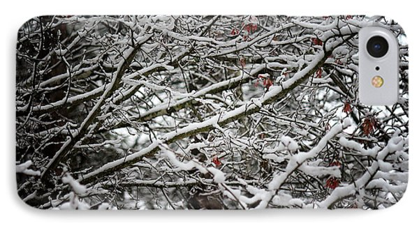 IPhone Case featuring the photograph Snow Laden Trees by Greg Simmons