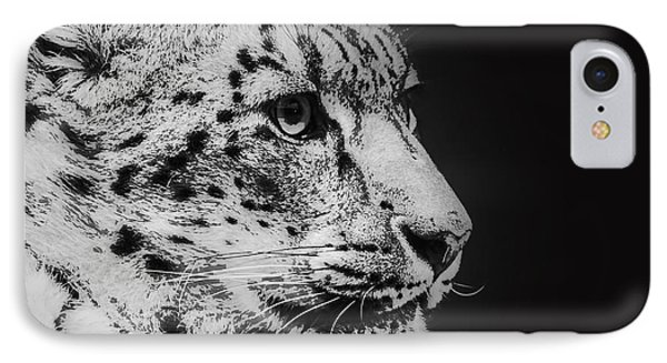 Snow Leopard IPhone Case by Jeff Swanson