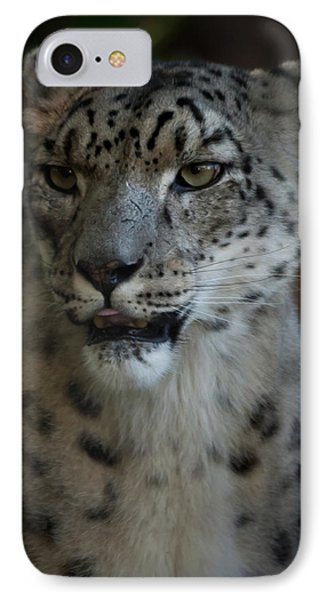 IPhone Case featuring the photograph Snow Leopard by Roger Mullenhour