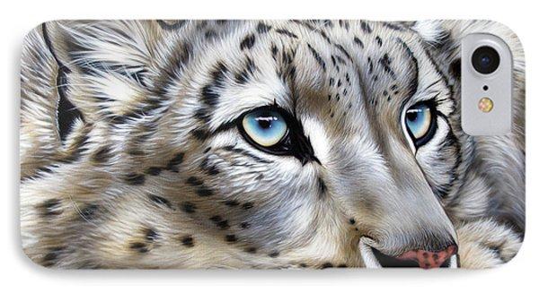 Snow-leopard's Dream IPhone Case by Sandi Baker