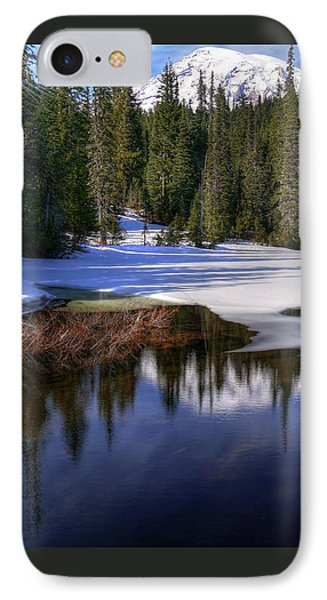 Snow-melt Revelations IPhone Case by Peter Mooyman