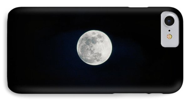 Snow Moon 4 IPhone Case by Janie Johnson