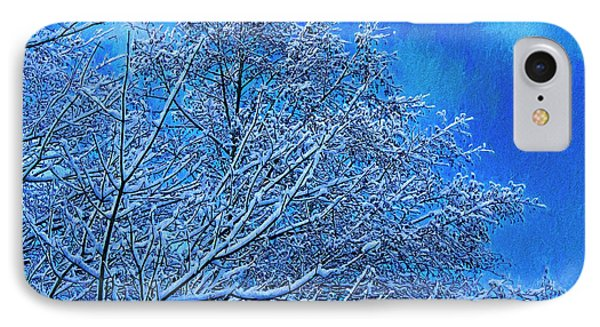 IPhone Case featuring the photograph Snow On Branches Photo Art by Sharon Talson