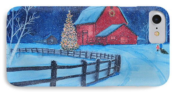 Snow On Christmas Eve IPhone Case