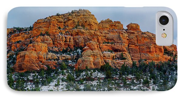 Snow On The Red Rocks Phone Case by Jon Burch Photography