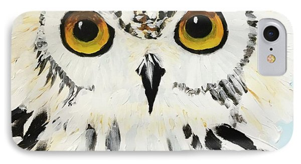 Snow Owl IPhone Case by Donald J Ryker III
