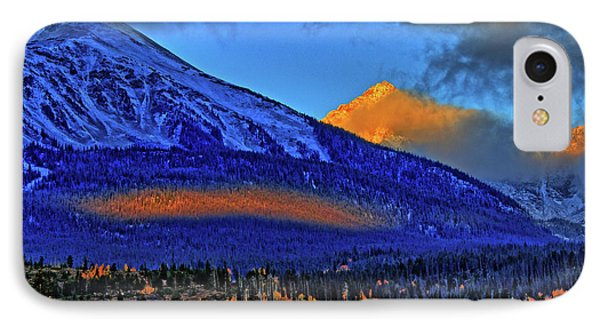 IPhone Case featuring the photograph Snow Peak Fall by Scott Mahon