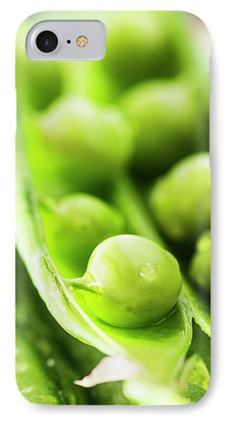 Snow Peas Or Green Peas Seeds IPhone Case by Vishwanath Bhat
