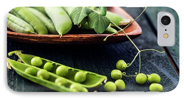 Snow Peas Or Green Peas Still Life IPhone 7 Case by Vishwanath Bhat