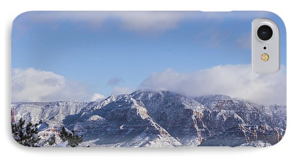 IPhone Case featuring the photograph Snow Rim by Laura Pratt