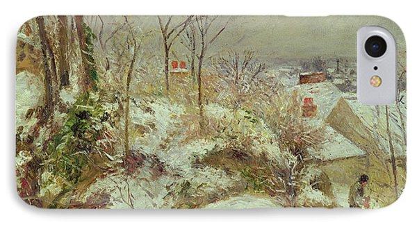 Snow Scene IPhone Case by Camille Pissarro