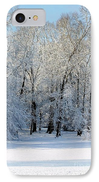 Snow Scene One IPhone Case by Donna Bentley