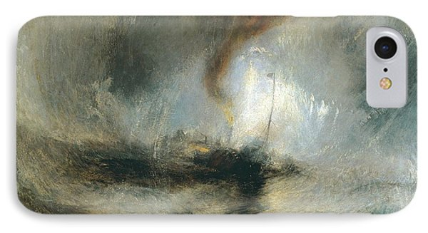 IPhone Case featuring the painting Snow Storm by Joseph Mallord William Turner