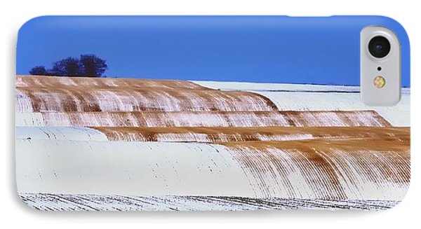 Snow Stubble Tree Line 13955 IPhone Case by Jerry Sodorff