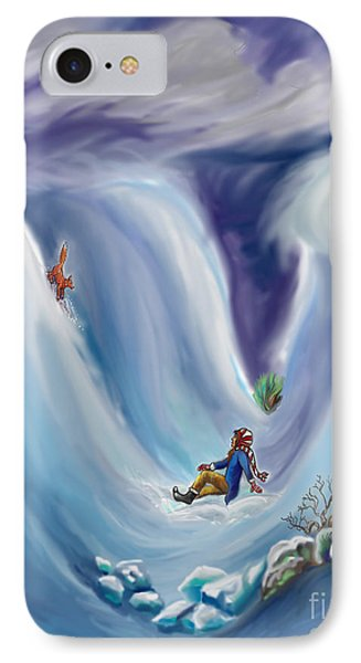 Snow Tang - Story Illustration 6 - Age 12 IPhone Case by Dawn Senior-Trask