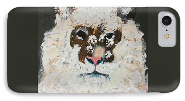 IPhone Case featuring the painting Snow Tiger by Donald J Ryker III