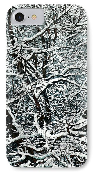 Snow Tree Phone Case by Nadi Spencer