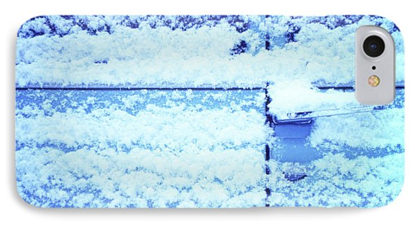 IPhone Case featuring the photograph Snow Van 51 Chevy Panel by Laurie Stewart