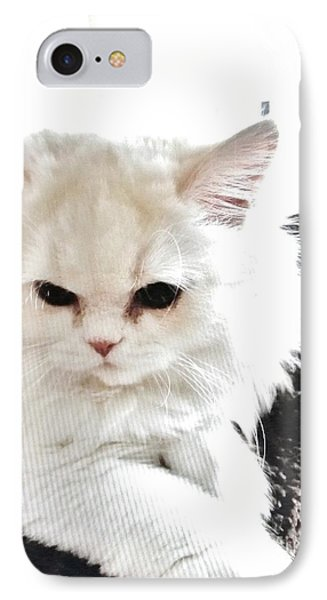 IPhone Case featuring the photograph Snowball Is 92 Year Old Widows Cat by Marsha Heiken