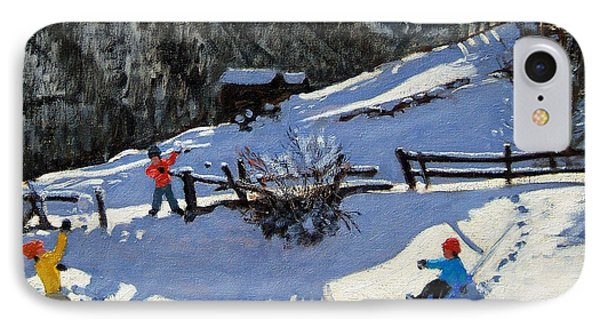 Snowballers IPhone Case by Andrew Macara